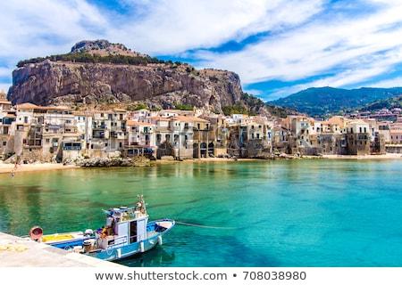 Sycylia Włochy plaży wody morza górskich Zdjęcia stock © raferto