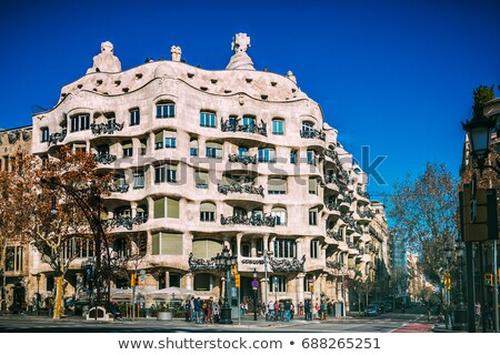 Facade of a house in Barcelona Stock photo © elxeneize