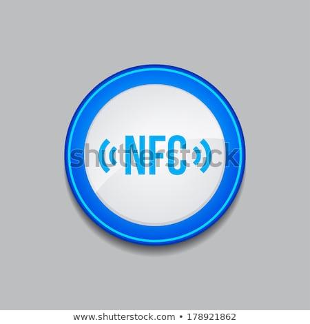 NFC Circular Vector Blue Web Icon Button Stock photo © rizwanali3d