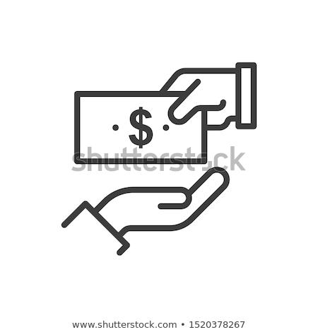Ikon tart valuta pénz háttér felirat Stock fotó © alexmillos