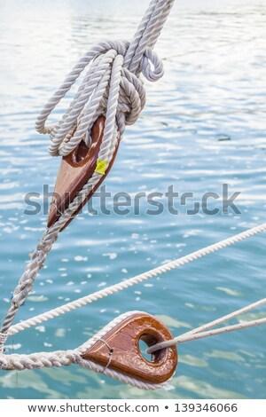 navegação · três · vermelho · corda · barco · mar - foto stock © tilo