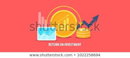 Roi volver inversión negocios objetivo tabla Foto stock © KrasimiraNevenova