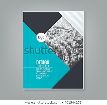 Soyut broşür gölge dizayn kâğıt Stok fotoğraf © vipervxw