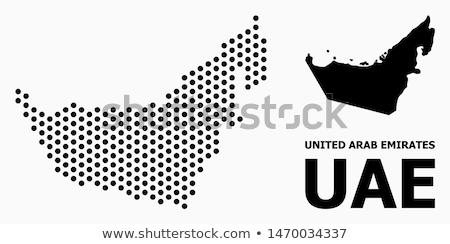 Map of United Arab Emirates, Dubai Emirate with Dot Pattern Stock photo © Istanbul2009