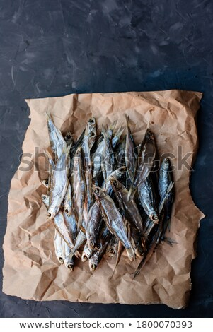a bunch of fresh dried river fish stock photo © mcherevan