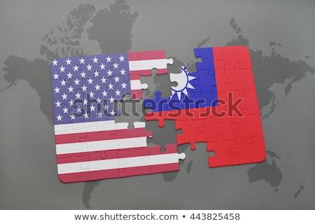 ABD Tayvan bayraklar bilmece vektör görüntü Stok fotoğraf © Istanbul2009