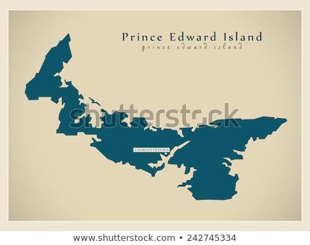 Mapa Canadá isla del príncipe eduardo país tierra ilustración Foto stock © Istanbul2009