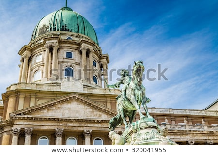 statue of prince eugene of savoy at the royal castle stock photo © andreykr