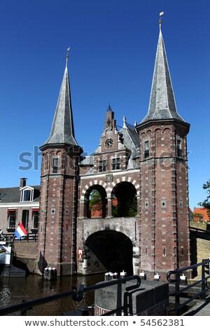 старые · воды · ворот · Голландии · здании · лет - Сток-фото © peter_zijlstra