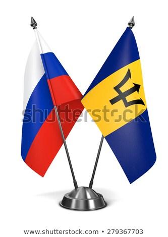 Rusland Barbados miniatuur vlaggen geïsoleerd witte Stockfoto © tashatuvango