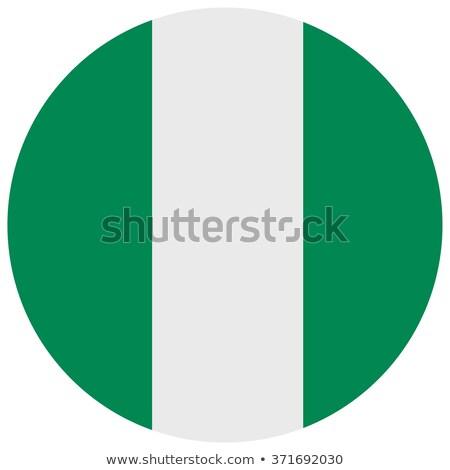 Nigeria banderą szary podpisania internetowych podróży Zdjęcia stock © tkacchuk