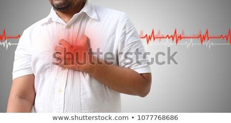 hipertensão · ilustração · nuvem · da · palavra · médico · coração · sangue - foto stock © asturianu
