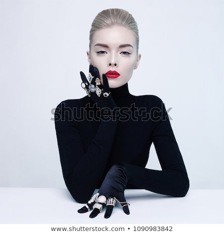 beauty photo of blonde lady in jewelry stock photo © pawelsierakowski