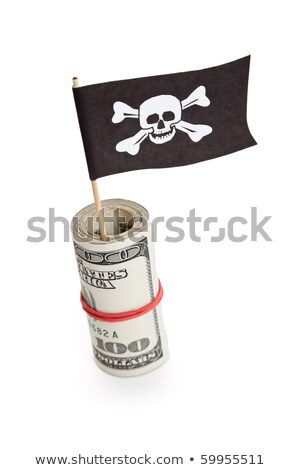 pirate flag and dollar stock photo © devon
