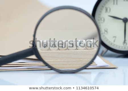 Privacy - Text on Blue Puzzles. Stock photo © tashatuvango