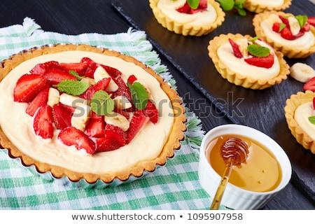 イチゴ カスタード クローズアップ 赤 食品 ストックフォト © aladin66