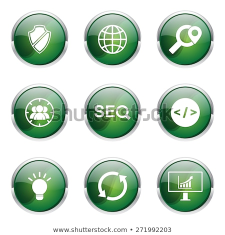 Seo Internet signo verde vector botón Foto stock © rizwanali3d