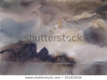 Viharfelhők erdő naplemente India égbolt felhők Stock fotó © Juhku