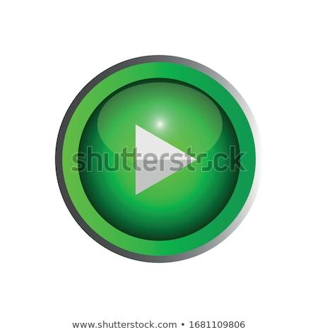 Pause Green Vector Icon Design Stock photo © rizwanali3d