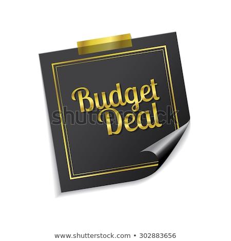 Költségvetés üzlet arany cetlik vektor ikon Stock fotó © rizwanali3d