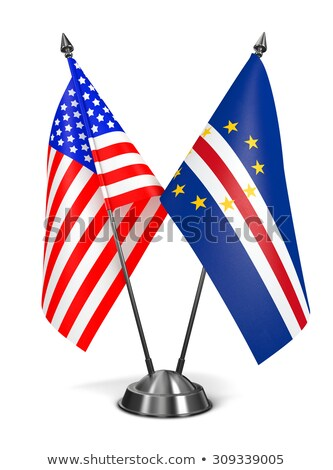 USA and Cape Verde - Miniature Flags. Stock photo © tashatuvango