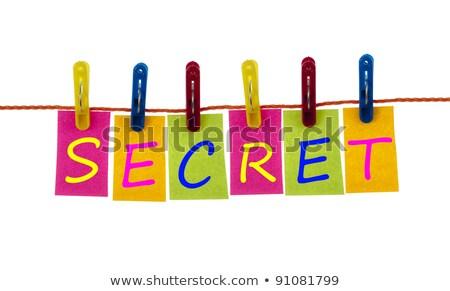 Geheime woord wasserij haak witte groep Stockfoto © fuzzbones0