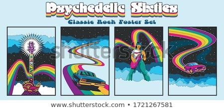 Rainbow · vettore · arte · illustrazione · più - foto d'archivio © nekiy