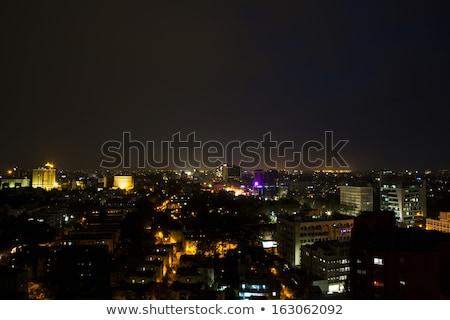 City lit up at night, Chennai, Tamil Nadu, India Stock photo © imagedb