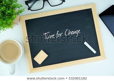Time for Change Handwritten on Chalkboard. Stock photo © tashatuvango