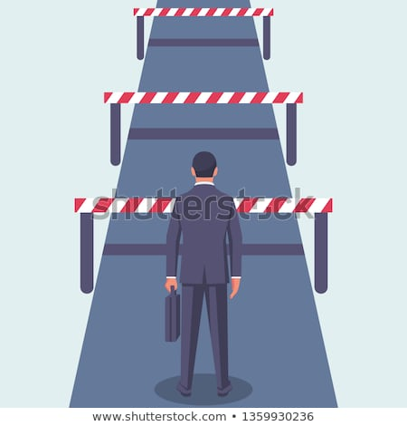 Stock photo: Barrier To Business