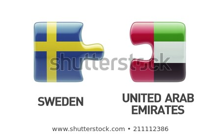 United Arab Emirates and Sweden Flags Stock photo © Istanbul2009