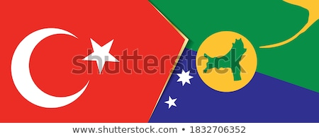 Turkey and Christmas Island Flags Stock photo © Istanbul2009