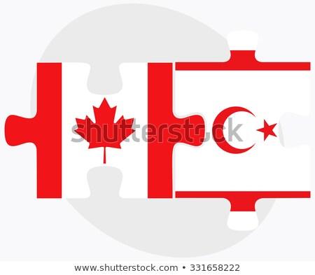 カナダ トルコ語 共和国 北 キプロス フラグ ストックフォト © Istanbul2009