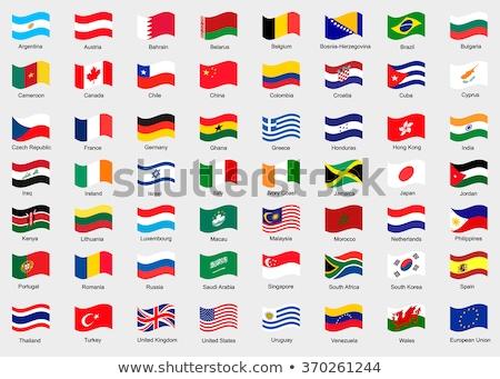 Németország Fülöp-szigetek zászlók puzzle izolált fehér Stock fotó © Istanbul2009