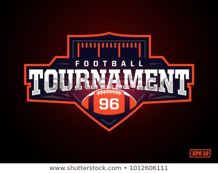 amerikaanse · voetbal · universiteit · kampioenschap · badge · logo - stockfoto © netkov1