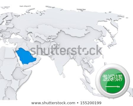 サウジアラビア カザフスタン フラグ パズル 孤立した 白 ストックフォト © Istanbul2009