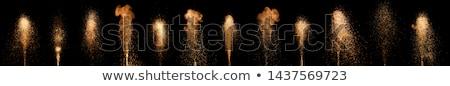 Fuegos artificiales fuente colorido negro ilustración Foto stock © orensila
