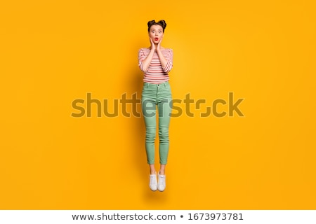 bright green pants and a top for girls stock photo © ruslanomega