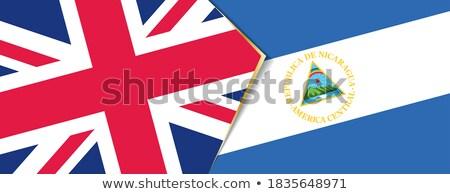 Reino Unido Nicarágua bandeiras quebra-cabeça isolado branco Foto stock © Istanbul2009