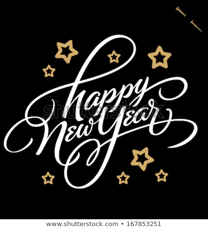 HAPPY NEW YEAR hand lettering, vector (eps8) stock photo © rommeo79