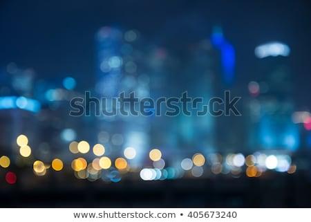 Zamazany bokeh Night City miasta streszczenie świetle Zdjęcia stock © happydancing