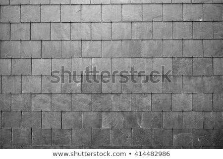 abstract detail of old slate roof tiles stock photo © teerawit