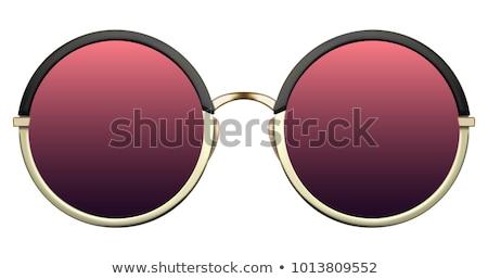 elegante · retrato · menina · moderno · legal · óculos · de · sol - foto stock © ANessiR