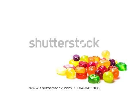 Colourful lollipop isolated on the white background Stock photo © tetkoren