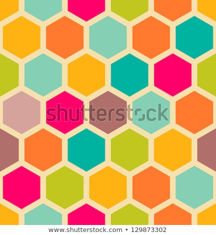 Abstract orange geometric hexagons pattern background Stock photo © punsayaporn