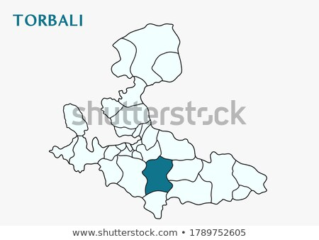 Map of Izmir - Torbali is pulled out Stock photo © Istanbul2009