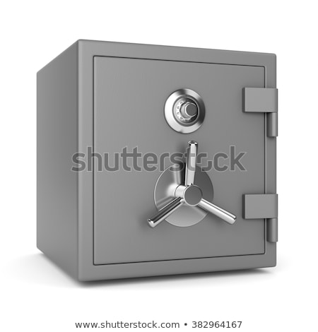 steel closed lock on white background. Isolated 3D image Stock photo © ISerg
