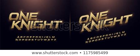 moderna · fuente · alfabeto · sombra · dimensión · tipografía - foto stock © netkov1