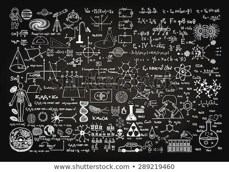 Scienza lavagna gesso testo simboli bianco Foto d'archivio © make
