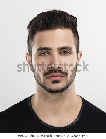 Jonge man snor geïsoleerd witte achtergrond cool Stockfoto © Elnur